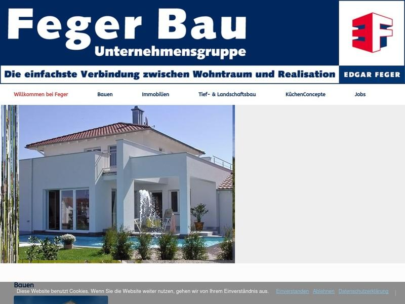 Screenshot von www.feger.de