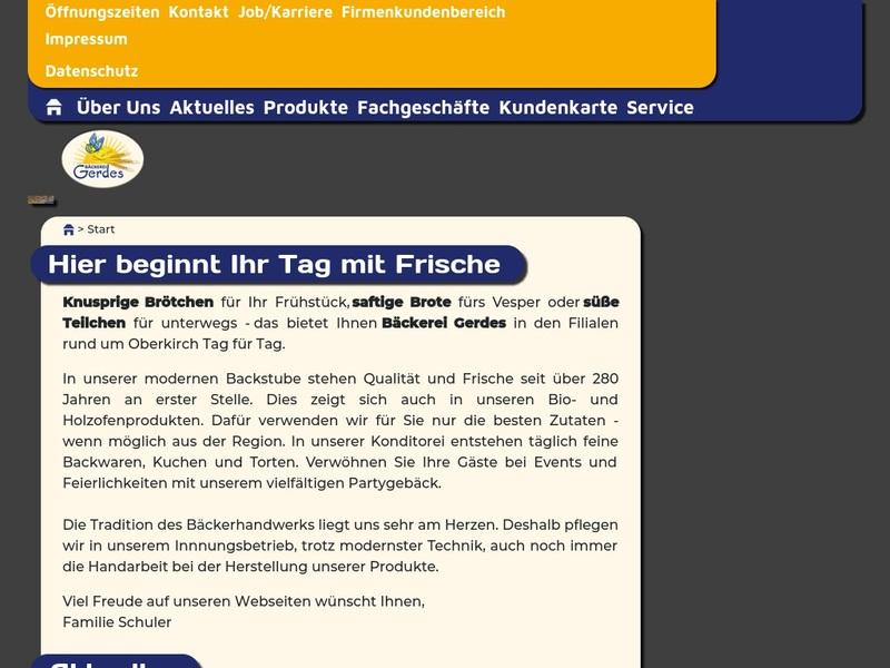 Screenshot von https://baeckerei-gerdes.de/